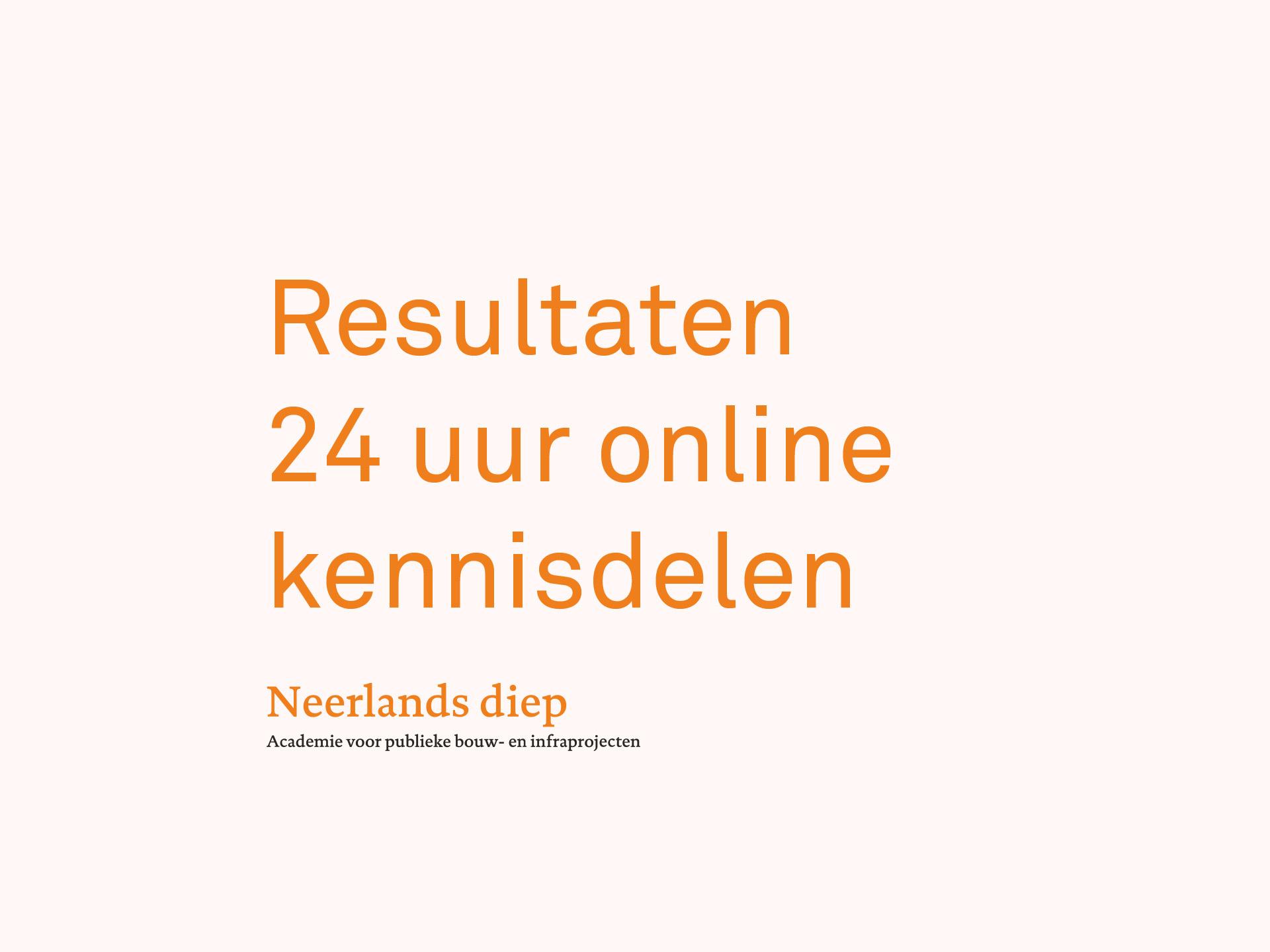 24 uur Online Kennisdelen, Neerlands Diep